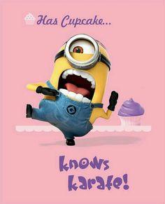 Has Cupcake....  Knows Karate!!!!😊💞😜