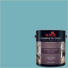 Kilz Complete Coat Interior/Exterior Paint & Primer in One #RF180-02 Water Oasis