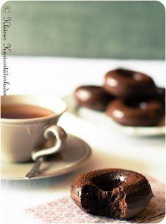 Schoko-Espresso-Donuts - gebacken, nicht frittiert