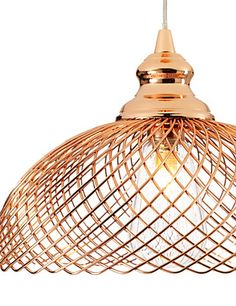 For on the landing this Fiji Pendant Ceiling Light from M&S would add interest but allow a good dispersion of light Copper Lighting, Pendant Lighting, Dispersion Of Light, Lights Fantastic, Hallway Decorating, Decorating Ideas, Decor Ideas, Copper Frame, Interior Lighting