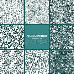 Pobieraj - Kolekcja bez szwu wzorów — Ilustracja stockowa #26096511