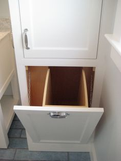 A Laundry Chute.  Make our laundry room is directly below our family bathroom! Score.