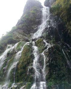 Waterfall on the way to Manang, Nepal