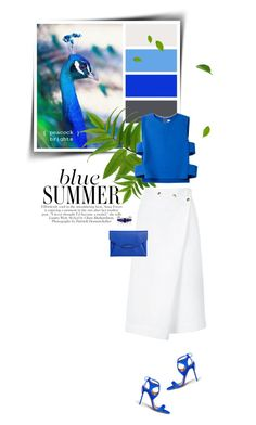 """Blue Summer "" by sophiek82 ❤ liked on Polyvore featuring Aquazzura, Noir Jewelry, Novis, Atlantique Ascoli, Givenchy, cutout, Clutch, top and springsummer2015"
