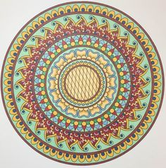 This is Midnight Meadow colored by Bill Holmes One of 100+ printable mandalas you can color too! https://mondaymandala.com/m/midnight-meadow?utm_campaign=sendible-pinterest&utm_medium=social&utm_source=pinterest&utm_content=midnight-meadow&utm_term=fancolor