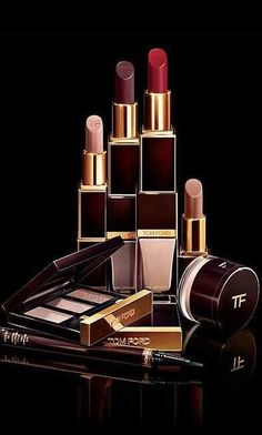 Luxury luxe living Tom Ford Makeup lipstick, eyeshadow palette, nail polish