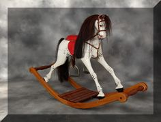 Antique Bow rocking horse