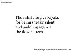 The Commandments of Rowing