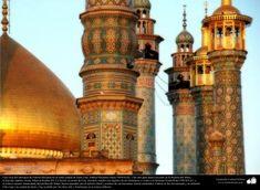 Arquitectura islámica Una vista del santuario de Fátima Ma'suma (P) en la santa ciudad de Qom - 16