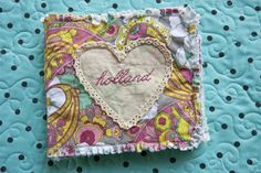 textured book for a baby girl. I love the 3D #appliques in these books