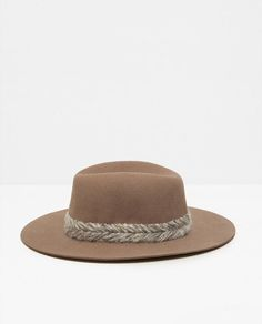 Image 1 of FELT HAT WITH BRAIDED DETAIL from Zara
