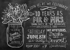 We Heart Parties: Party Details - 10th Anniversary Rustic Barn Party