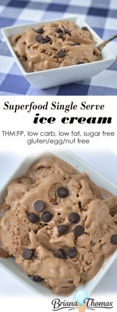 Superfood Single Serve Ice Cream >> THM:FP, low carb, low fat, sugar free, gluten/egg/nut free