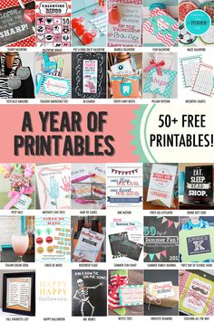 A Year of Printables. Over 50 free printables for every occasion.