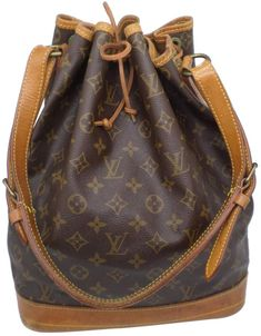 9abcc3446f2 Noé cloth handbag Louis Vuitton Brown in Cloth - 6774870