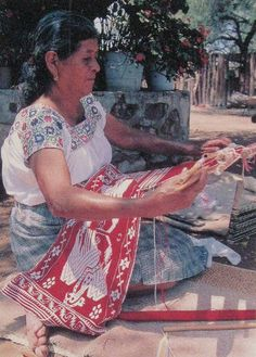 Otomi Weaver Mexico by Teyacapan, via Flickr