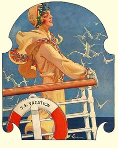 S.S. Vacation (1929) by E.M. Jackson for The Saturday Evening Post