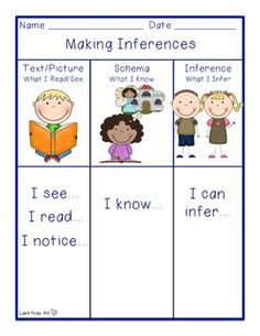 making inferences graphic organizer | Inferences | Pinterest | Making ...
