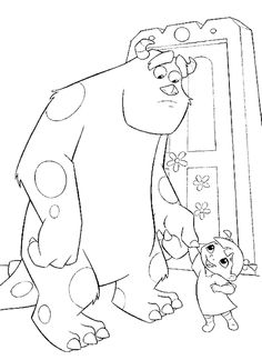 Sulley And Boo Coloring Pages