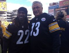 Andrew McCutchen and Clint Hurdle at the Steelers game against the Ravens. 10.20.13