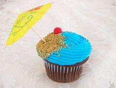 Luau cupcake