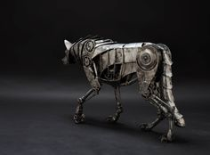 steampunktendencies:    Mechanical Wolf by Andrew Chase