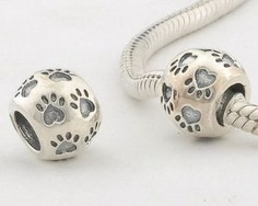 This bead is cute and matches my Pandora diamond.