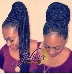 Top Creative Cornrow Hairstyles The Best Ones Of 2018 You Should Try This Year is part of braids - Imagine if we lived in a world where we didn't have to style our hair every day, we had a hairstyle we loved and it lasted for months o Box Braids Hairstyles, Braided Ponytail Hairstyles, Braided Hairstyles For Black Women, My Hairstyle, African Hairstyles, Girl Hairstyles, Ponytail Updo, Carrot Hairstyles, Black Cornrow Hairstyles