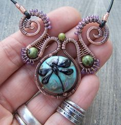 Cool wirework, great colors! Dragonway Colorfly Necklace by Revelate