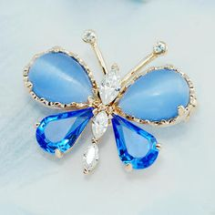 Swarovski Crystal Butterfly Brooch Pin