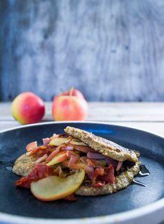 Kjørmes Pandekager med Æbleflæsk