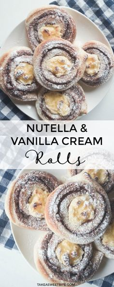 Nutella and Vanilla Cream Rolls #nutella #vanilla #rolls