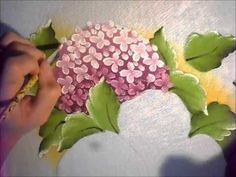Como pintar hortênsias - YouTube