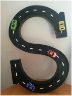 Personalized Letter for race car theme