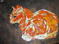 Polly our much loved cat ,, a mosaic still wii ,, by kat gottke ,, 10th dec 2012