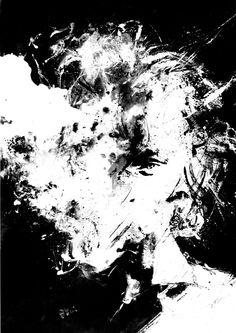 Smoke. Noir Girl Art, Black And White Art, Smoking Woman, Stare, Smoking Cigarettes, Girl Blowing Smoke, Angry Face, Acrylic Painting,  Dark by BlackraptorArt on Etsy https://www.etsy.com/listing/221869415/smoke-noir-girl-art-black-and-white-art