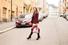 luis vuitton alma over the knee boots ootd pink shorts and black jumper street style