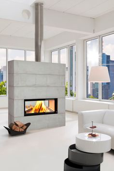 Stove Fireplace, Modern Fireplace, Stoves, Fireplaces, Bright, Home Decor, Log Burner, Trendy Tree, Modern Room Dividers