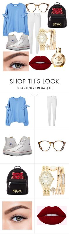 """Untitled #42"" by sharon-s-molnar on Polyvore featuring MANGO, Burberry, Converse, STELLA McCARTNEY, Kenzo, Jessica Carlyle, Morphe and Versace"