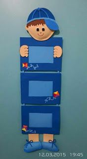 Learn how to make cute portraits in foami look at this tutorial ~ Solountip . Art N Craft, Craft Stick Crafts, Preschool Crafts, Diy Art, Diy And Crafts, Class Decoration, School Decorations, Foam Crafts, Paper Crafts