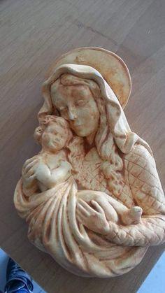 Madonna con bambino in gesso