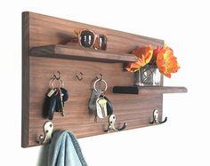 Floating Shelf / Modern Entryway Wall Organizer with by KrovelMade