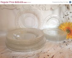 Christmasinjuly Vintage Set of Dishes  Federal by Dupasseaupresent, $20.91