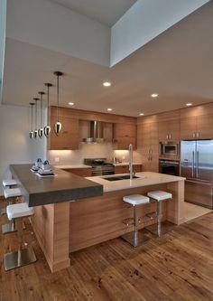 41 Best Of Contemporary Kitchen Design Ideas 40 Modern Kitchen Design Contempora… Kitchen Room Design, Luxury Kitchen Design, Best Kitchen Designs, Kitchen Cabinet Design, Luxury Kitchens, Home Decor Kitchen, Interior Design Kitchen, Cool Kitchens, Kitchen Ideas