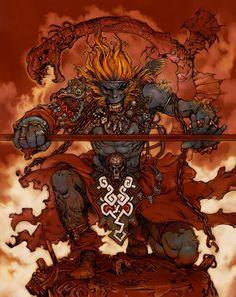 The Monkey King Art by Katsuya Terada Monkey Art, Monkey King, Fantasy Warrior, Fantasy Art, Character Art, Character Design, Dragons, King Art, Manga Artist