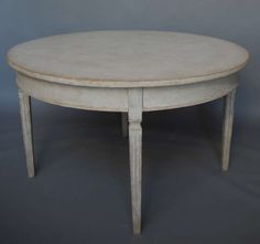Small Dining Table in the Gustavian Style | From a unique collection of antique and modern dining room tables at http://www.1stdibs.com/furniture/tables/dining-room-tables/