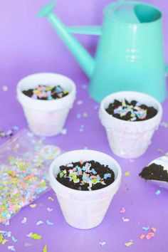 Unicorn Iridescent Terracotta Plant Pots - fun for party, for wedding, for baby shower, and more! This is such an easy DIY with Mod Podge.