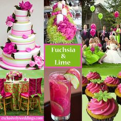 Fuchsia and Lime Wedding | #exclusivelyweddings