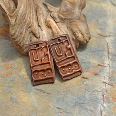 Handmade Copper Tribal Totem Texture by KristiBowmanDesign on Etsy, $15.00