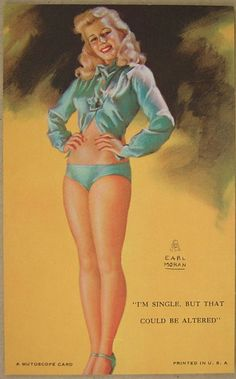 Vtg 1946 Mint Earl Moran Mutoscope Pinup Card Original not Reproduction N12   eBay
